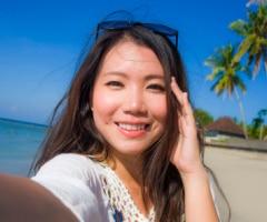 Japanische Frau Kimlacht sucht ein Paar